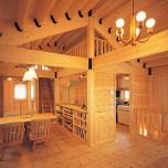 2階リビングを一望できるお気に入りのロフトがある家