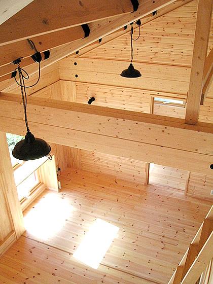 1階と2階にリビングがあるリビング階段の家