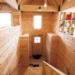 スキップフロアのメリットを活かし開放感あふれる2階リビングの家