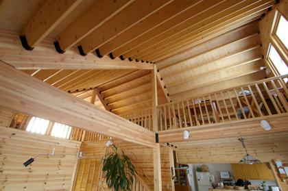 大きな三角の切妻屋根とレンガが、まさに家らしいシルエットの外観デザインの平屋建て住宅